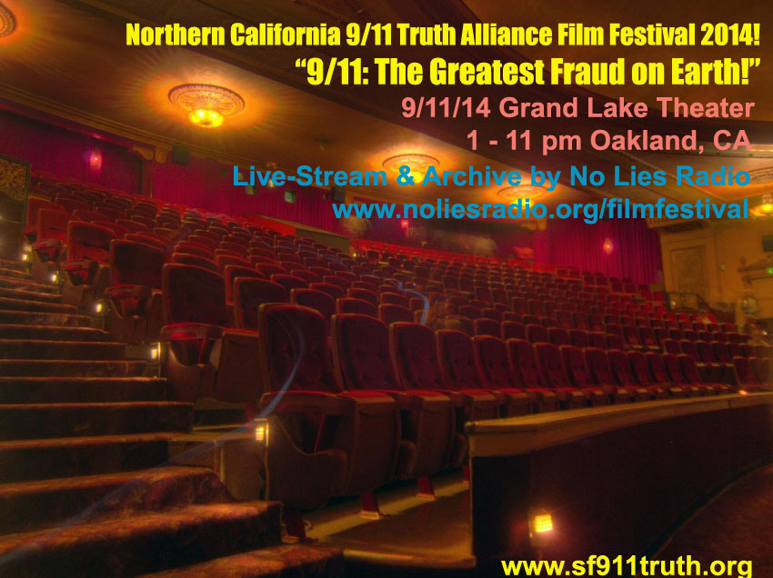 Balcony9-11TruthFilmFest2014NoLiesRadioLiveStream-Promo_Grand-Lake-Theater_OaklandCA_vic-sadot