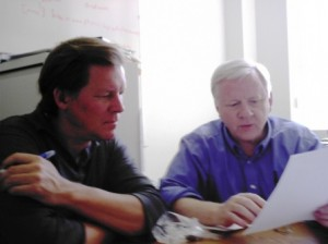 Christopher Bollyn and Professor Jones look at 9-11 data at BYU in the spring of 2006.  Dr. Jones and Bollyn were both attacked in August-September 2006.  The evidence indicates that they were attacked because of their research into the use of Thermite in the destruction of the World Trade Center.